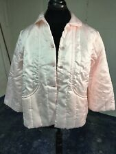 New Pink Quilted Bed Jacket in Packing Bag The Primary Layer M