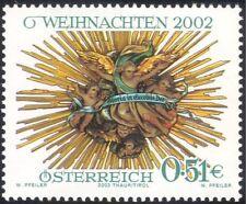 Austria 2002 Christmas/Greetings/Crib Aureole/Cherubs/Angels 1v (at1031)