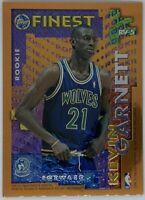 1995/96 Topps Finest Rookie/Veteran Kevin Garnett/Tom Gugliotta #RV-5