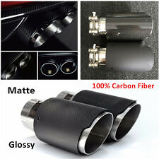 Universal Glossy/Matte Car MUFFLER Pipe Exhaust Tips 63MM 100% Real Carbon Fiber