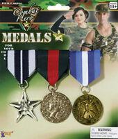 Combat Hero Military Medals Costume Accessory