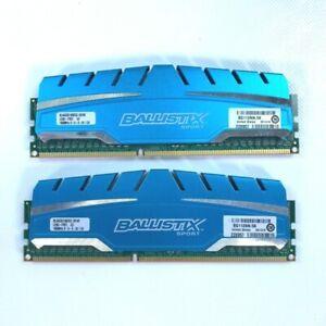 Crucial 8GB Ballistix Sport DDR3 1600 MHz UDIMM 2 x 4G Memory Modules Game RAM