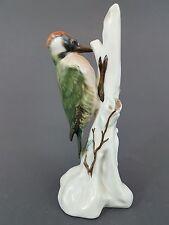 Rosenthal Vogel Figur, Grünspecht, Entwurf E. Otto-Eichwald 1926, Höhe 17,5 cm