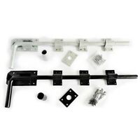 """Drop Bolt - Gate Garage Barn Stable Shed Door Security cw Fixings 12"""" 18"""" or 24"""""""