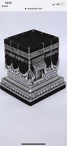Luxury Kaaba Shape Gift  Islamic Ornament Size 12/11cm Silver Colour