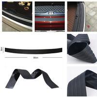 Black JDM Rear Bumper Rubber Pad Guard Sill Plate Trunk Protector Kit Trim Cover