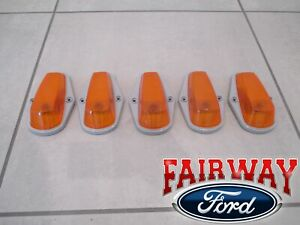 90 thru 97 Super Duty F250 F350 OEM Ford Roof Marker Lamp Light Kit 5pc NO BULBS