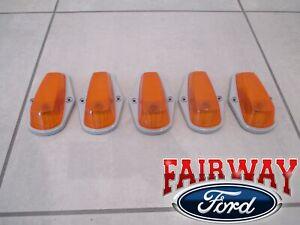 90 thru 97 Super Duty F250 F350 OEM Ford Roof Marker Lamp Light Kit 5pc NO BULBS