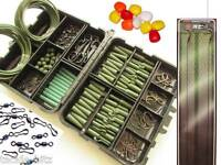 Fishing Tackle Box Quick Links Carp Weights Clips Hooks Hair rigs Swivels GREEN