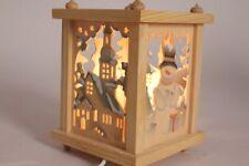 Lantern Wood Christmas Winter Snowman Decoration Lamp Window Decoration