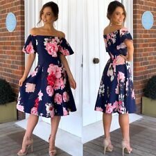 Beautiful Floral Dress Size 18 Off The Shoulder Race Work Party Cocktails