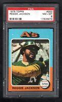 1975 TOPPS #300 REGGIE JACKSON A'S PSA 8 NM/MT SHARP CARD!