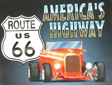 Route 66 Roadster Tin Sign