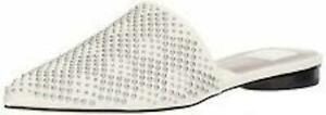 Dolce Vita Womens Elvah Off White Leather Mules Size 10 NEW