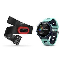 Garmin Forerunner 735XT HRM4-Run Multisport GPS Watch Midnight/Frost Blue Bundle