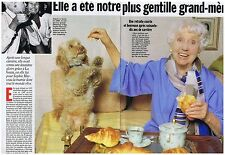 COUPURE DE PRESSE CLIPPING 1996 DENISE GREY la plus gentille grand mère   2 pgs