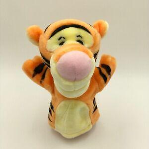 "Tigger Winnie the Pooh Disney Mattel Hand Puppet 9"" Toy Stuffed Animal Preschool"