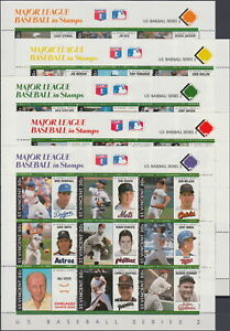 St Vincent Stamp & All 9 S/S Major League Baseball in Stamps 1989 MNH-24,30 Euro