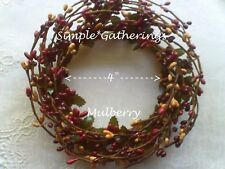 """Pip Berry Candle Ring MULBERRY MIX 4"""" Diameter Primitive Crafts Country"""