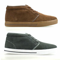 Mens Leather Suede Casual Retro Dessert Walking Trainers Ankle Boots Shoes Size