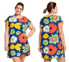 NWT Marimekko for Target Tunic Dress - Kukkatori (Flower Market) Plus Size 3X