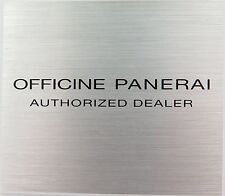 SCARCE OFFICINE PANERAI AUTHORIZED DEALER NEW OLD STOCK SMALL METAL PLAQUE