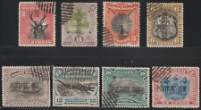 NORTH BORNEO 1895 POSTAGE DUE SET OF 8V CTO CAT RM 1295 AS POSTALLY USED
