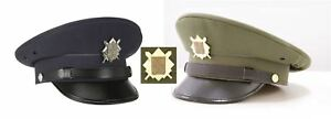 Peaked Cap Czech Army Military Officer Air Force Hat Fancy Dress Uniform Outfit
