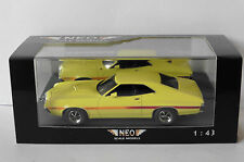 FORD GRAN TORINO COUPE SPORT 1972 YELLOW NEO 44741 1/43 GELB JAUNE USA CAR LHD