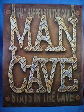 MAN CAVE WHAT HAPPENS IN THE GARAGE STAYS METAL SIGN home workshop decor male