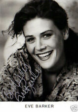 ACTRESS EVE BARKER HAND SIGNED BLACK & WHITE PHOTOGRAPH 5.5 x 3.5