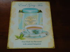 Earl Grey Tea Metal Picture Plaque Sign Retro Style Home Decor Nice Gift