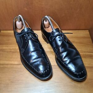 LOAKE BLACK DERBY SHOES UK 7.5 EU41 MADE IN ENGLAND LAST 3625-6