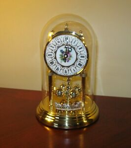 HERMLE  ANNIVERSARY CLOCK WEDDING DESIGN HORSE AND CARRIAGE