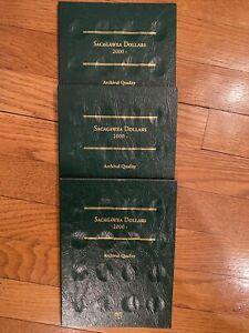 Sacagawea Dollars 2000- Present Littleton Coin Folder Lot Of 4