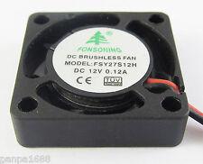 10x Mini Brushless DC Cooling Fan 25x25x7mm 25mm 2507 12V 0.12A 7 blade 2pin(US)