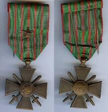 Médaille - Croix de guerre 1 citation bronze superbe VERDUN 1914-1918