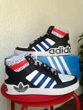 ADIDAS ORIGINALS HARD COURT HI MENS LEATHER TRAINERS-SIZE 7
