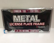 Stockdale Alabama 17 Champions Crimson Tide Football License Plate Frame