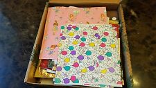 Scrapbooking Lot of Vintage Christmas and Bitrhday Wrapping Paper Crafts Disney