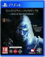 Shadow of Mordor: Game of the Year Edition PS4 Playstation 4 Brand New Sealed