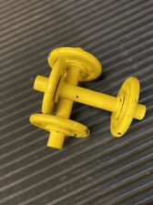 2kg 4kg Total Yellow Made Up Dumbbells. Perfect For Home Workout Classes Gym