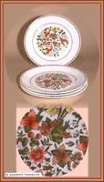 Lot of 4 Corelle INDIAN SUMMER 8-1/2 Luncheon Lunch Plates Retired Autumn Flower