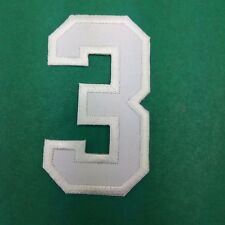 Number 3 Iron Patch numeral math counting Three school applique Sew On DIY cloth