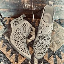 Size 7 Womans NWT Altar'd State Peyton Taupe Brown Laser Cut Booties Ankle Boots