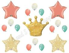 PRINCESS CORAL MINT GOLD Birthday Party Balloons Decoration Supplies Baby Shower