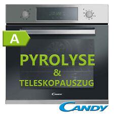 Einbau Backofen Edelstahl Pyrolyse Selbstreinigung + Teleskopauszug Candy NEU