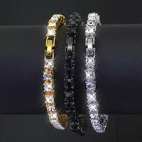 Women Men Cubic Zirconia Tennis Bracelet Chain Crystal Bracelet Jewely xkj