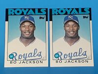 1986 Bo Jackson Topps Traded #50T Rookie Cards RC (Lot of 2)