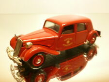 SOLIDO 32 CITROEN 15 SIX 1939 SACEURS POMPIERS - RED 1:43 - GOOD CONDITION